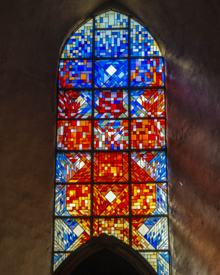 Stained Glass window in the St Nicholas Church, Tallinn