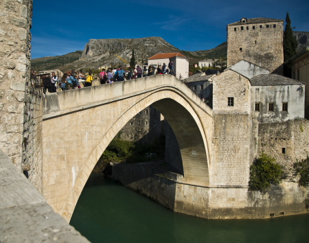 Mostar Bridge, rebuilt after the war