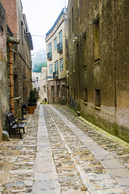 In the Village of Erice, Sicily