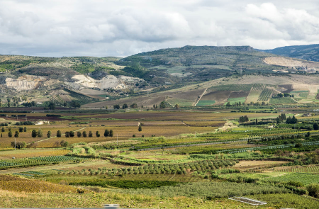 The countryside of eastern Sicily