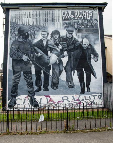 IRL4698 Bloody Sunday Mural in Derry
