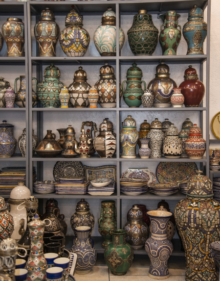 In the Showroom of the Pottery Factory, Fez