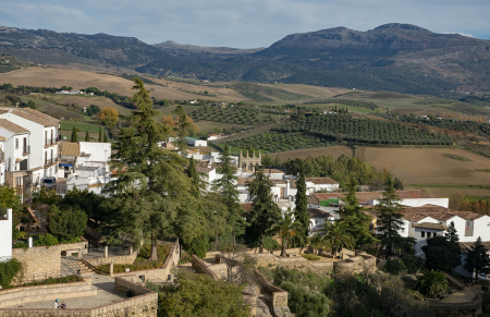 An overview of Ronda, Spain